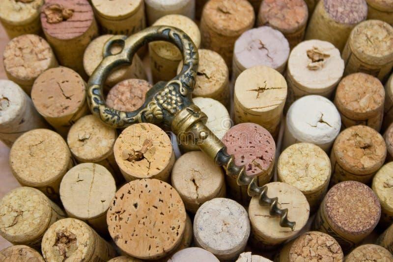 starzy corkscrew stoppers zdjęcie royalty free