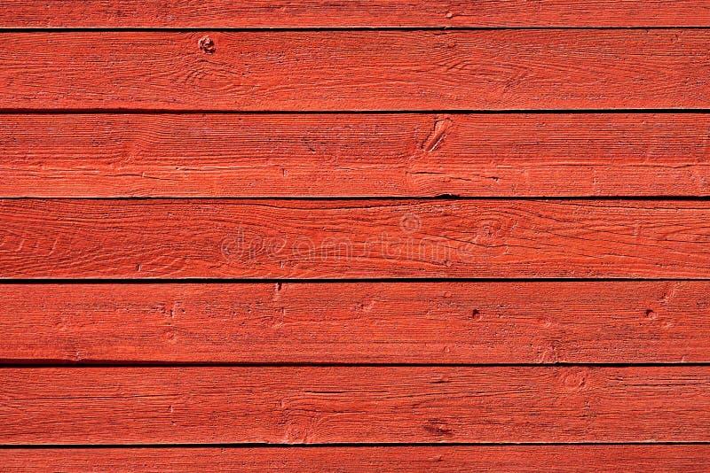 Starzy czerwoni drewno panel zdjęcie royalty free