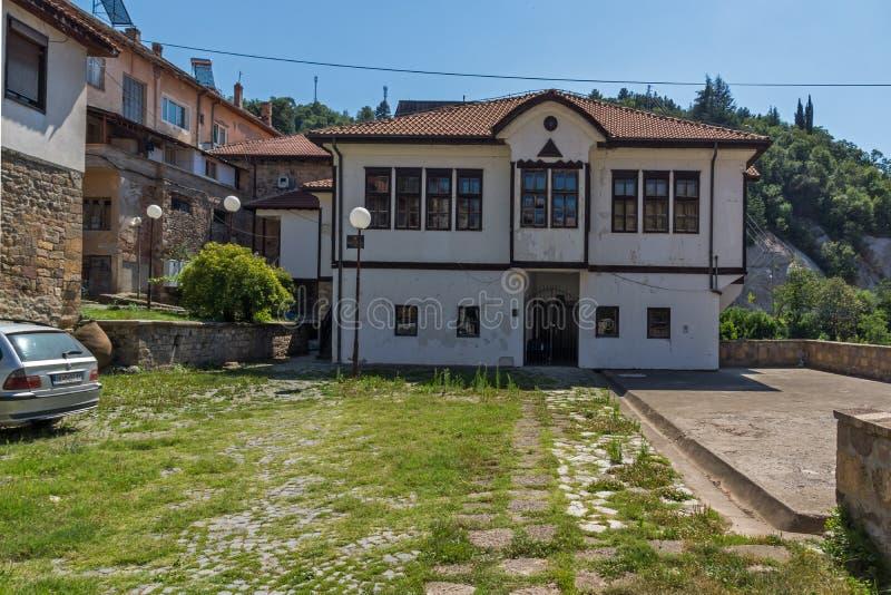 Starzy domy przy centrum miasteczko Kratovo, republika Macedonia zdjęcie stock
