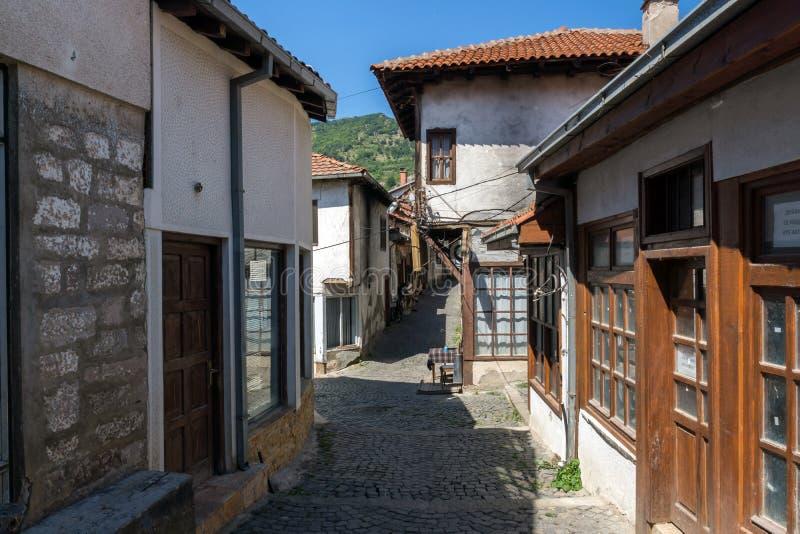 Starzy domy przy centrum miasteczko Kratovo, republika Macedonia fotografia royalty free