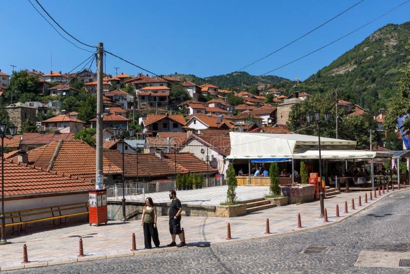 Starzy domy przy centrum miasteczko Kratovo, republika Macedonia obraz royalty free