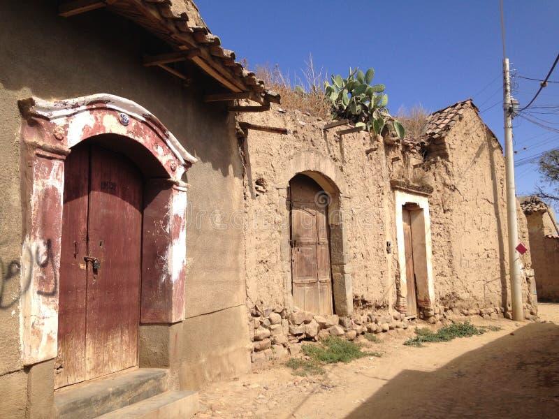 Starzy domy w tarata II zdjęcia royalty free