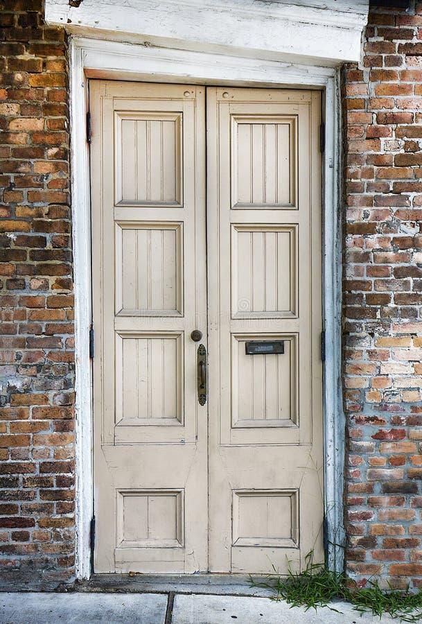 Starzy drewniani drzwi fotografia royalty free