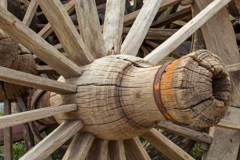 Starzy drewniani furgonów koła zdjęcie royalty free