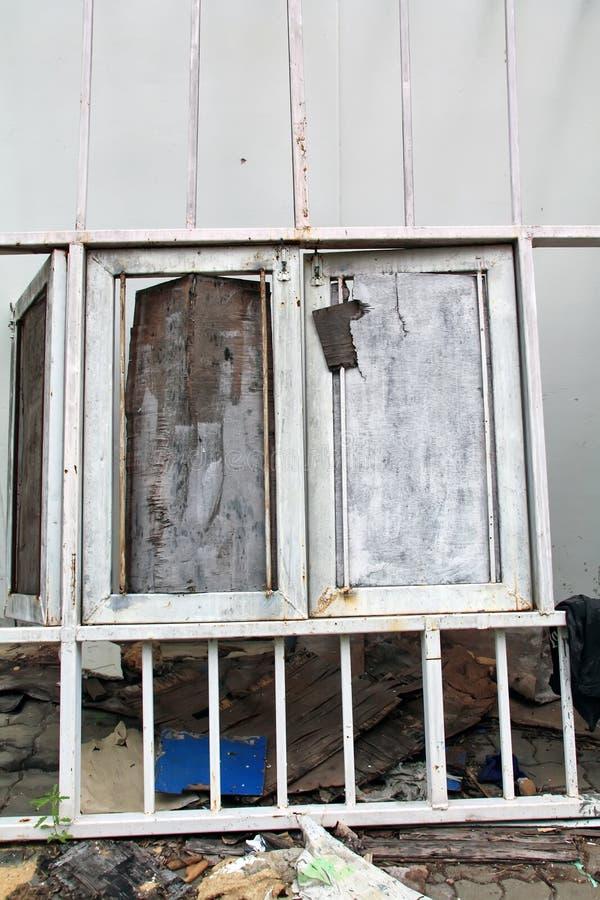 Starzy drewniani okno fotografia stock