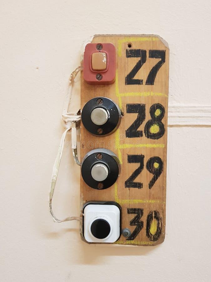 Starzy drzwi pierścionki & x28; buttons& x29; zdjęcie royalty free