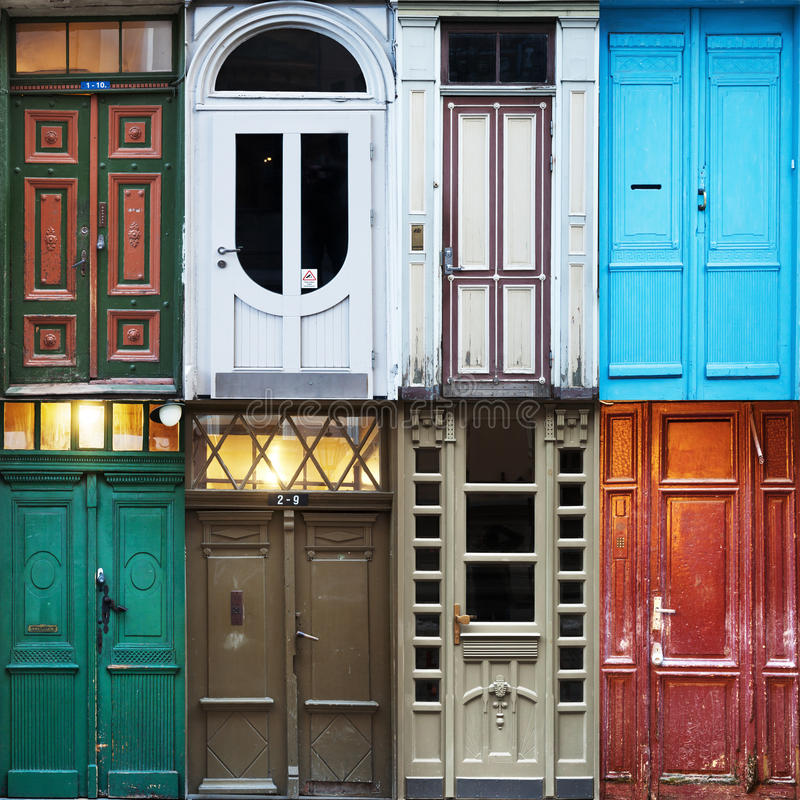 Starzy drzwi Ryski zdjęcie stock