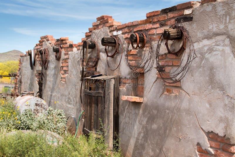 Starzy Dzicy Zachodni Grodzcy budynki fotografia stock