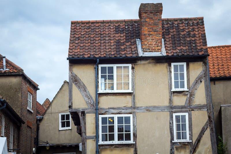 Starzy, dziejowi domy w Jork, Anglia, UK obraz royalty free