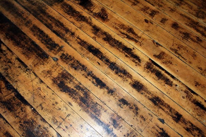 Starzy Floorboards obraz royalty free