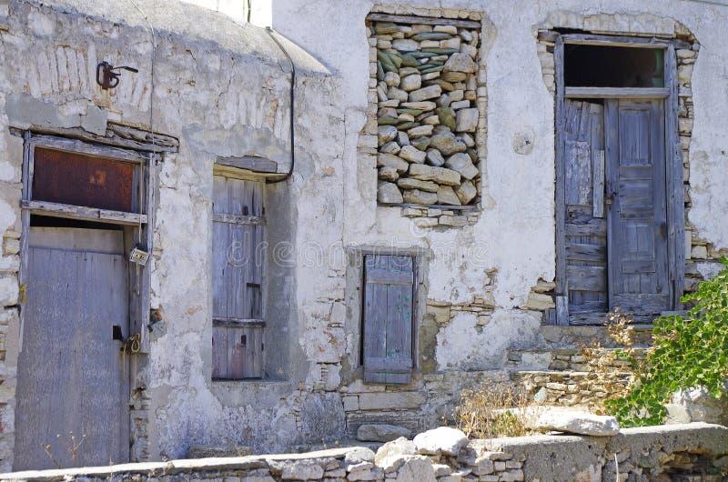 starzy folegandros domy fotografia stock