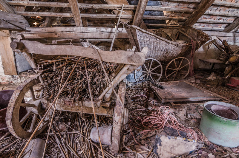 starzy frachty na loft fotografia royalty free