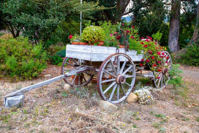 Starzy furgonów kwiaty zdjęcie royalty free