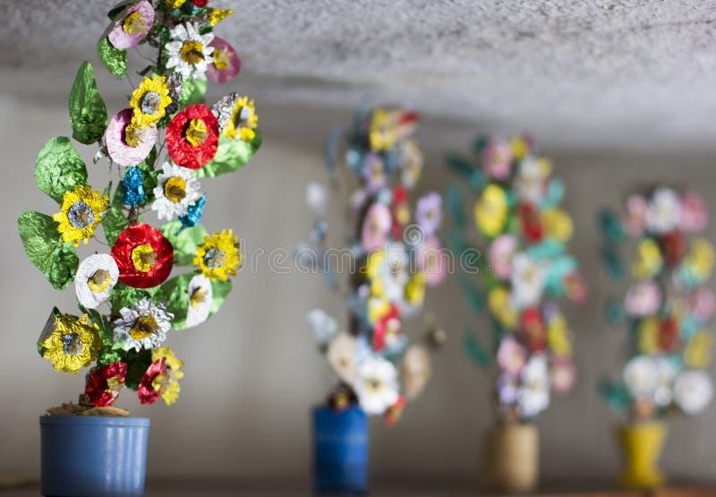 Starzy handmade kwiaty zdjęcie royalty free