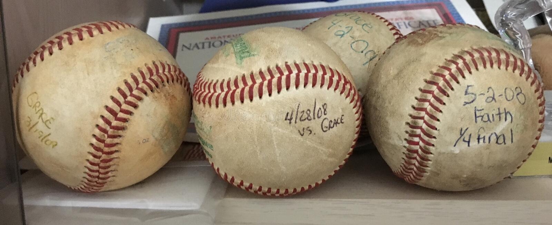 Starzy homerun baseballe zdjęcia stock