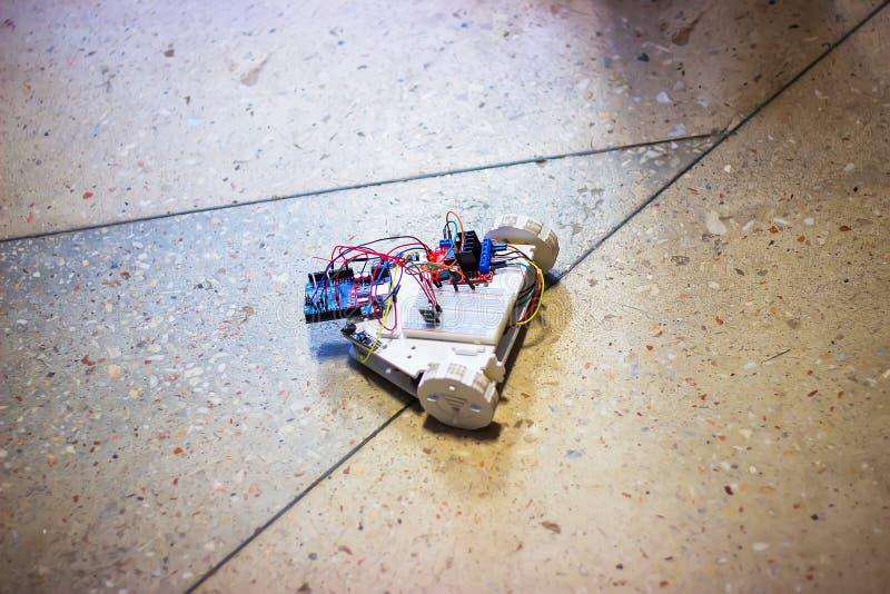 Starzy klasyk cyny zabawki roboty fotografia royalty free
