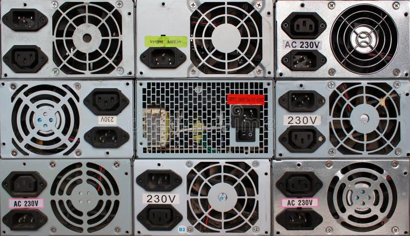 Starzy komputerowi źródła zasilania zdjęcia stock