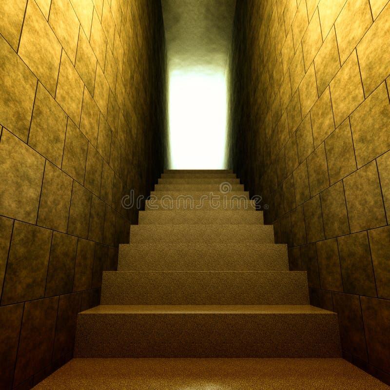 Starzy kroki w światło ilustracja wektor