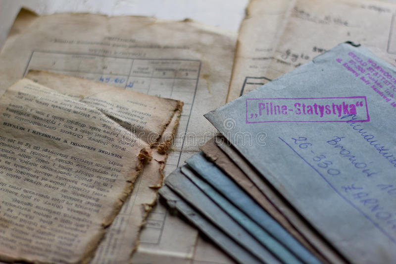 Starzy listy i dokumenty fotografia stock