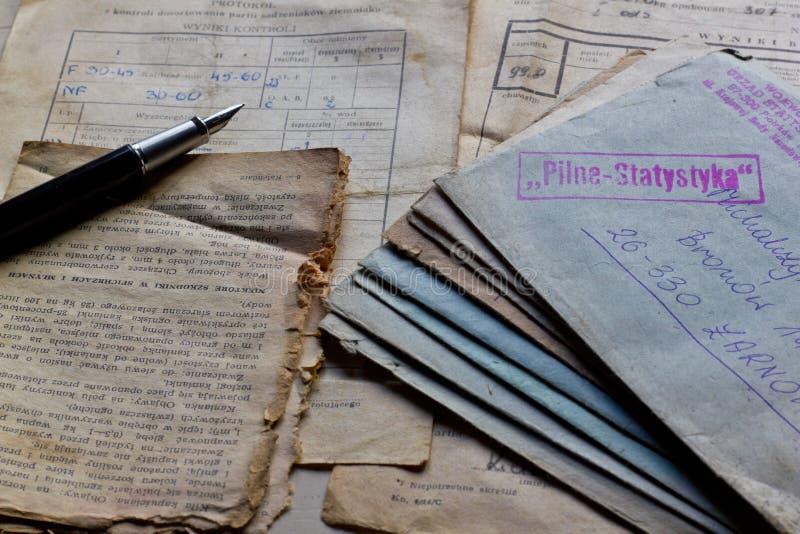 Starzy listy i dokumenty zdjęcie royalty free