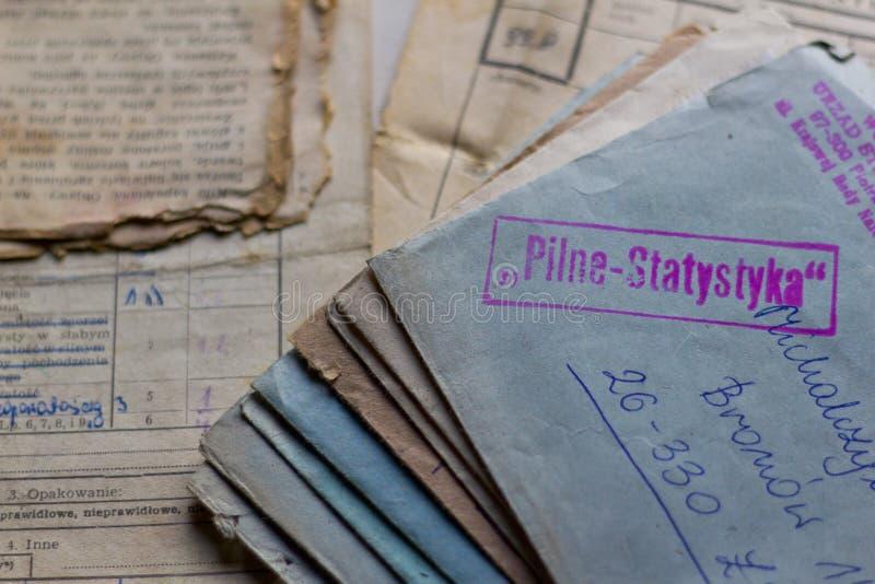 Starzy listy i dokumenty obrazy royalty free