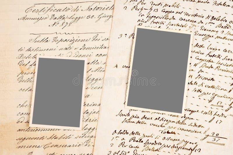 Starzy listy i fotografie obraz stock