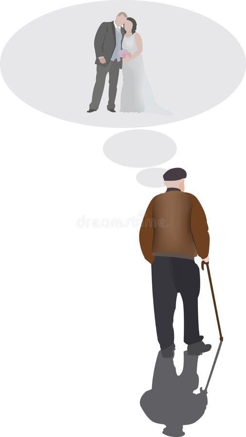 Starzy ludzie royalty ilustracja