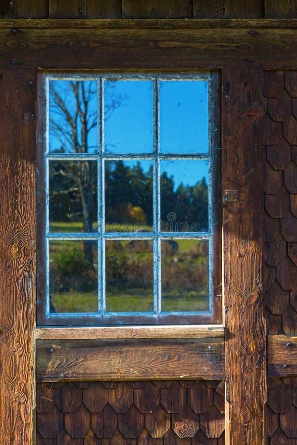 Starzy lufcików okno obraz stock