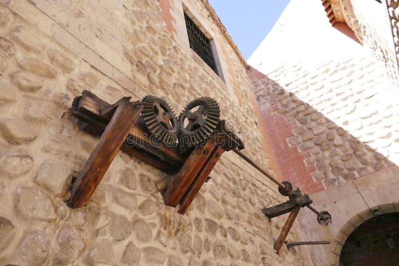 Starzy metal przekładni cogwheels z rdzą obraz stock