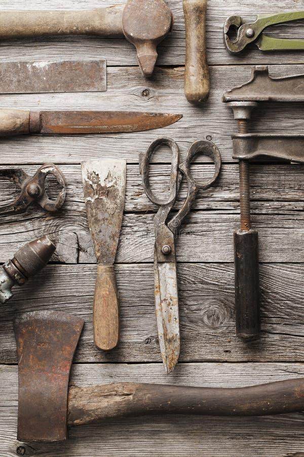 starzy narzędzia obraz royalty free