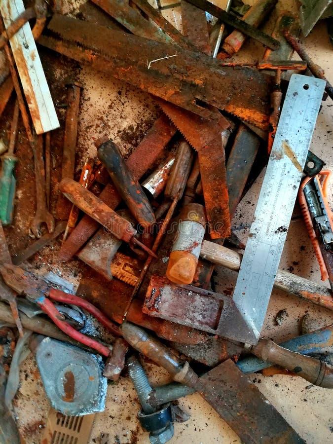 Starzy narzędzia i plama zdjęcia royalty free