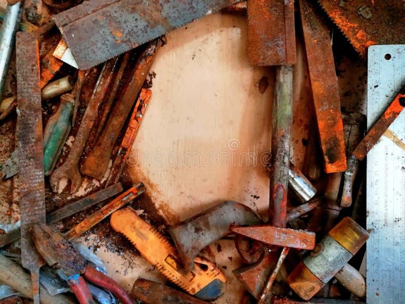 Starzy narzędzia i plama fotografia royalty free
