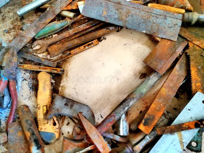 Starzy narzędzia i plama obraz royalty free