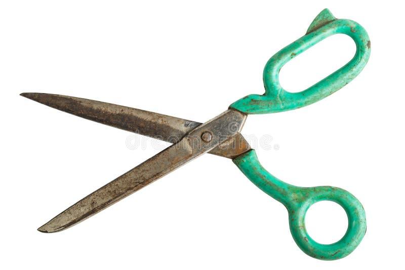 Starzy ośniedziali krawieccy nożyce zdjęcie stock