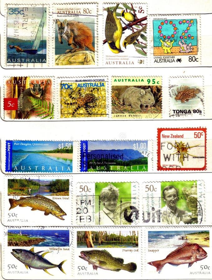 starzy Oceania znaczki fotografia stock