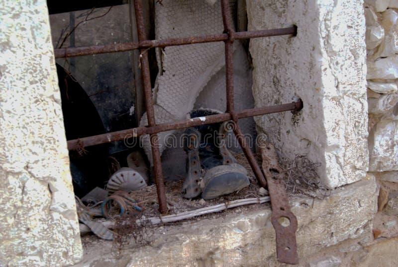 Starzy okno i wspominki obraz stock