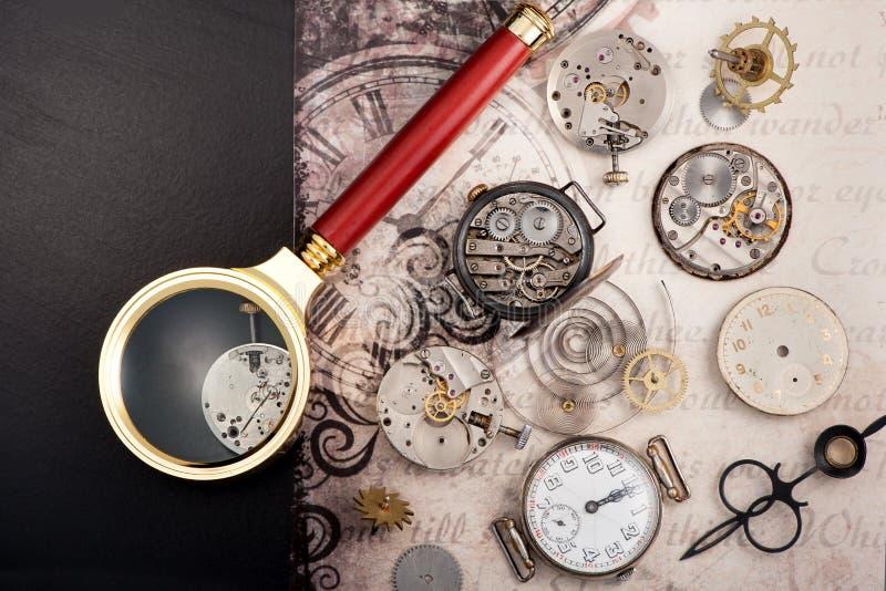 Starzy roczników zegary fotografia royalty free