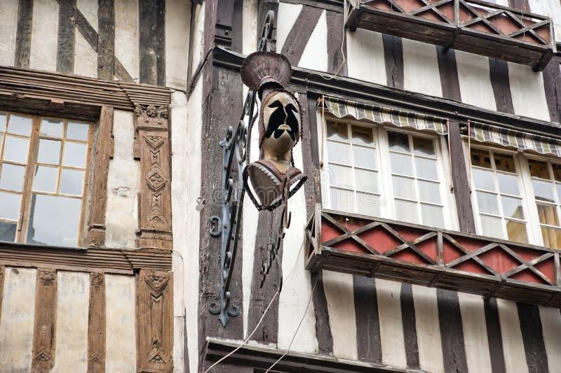Starzy ryglowi domy w Rouen, Francja zdjęcie stock