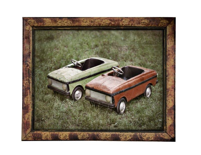 starzy samochodów dzieci obraz royalty free