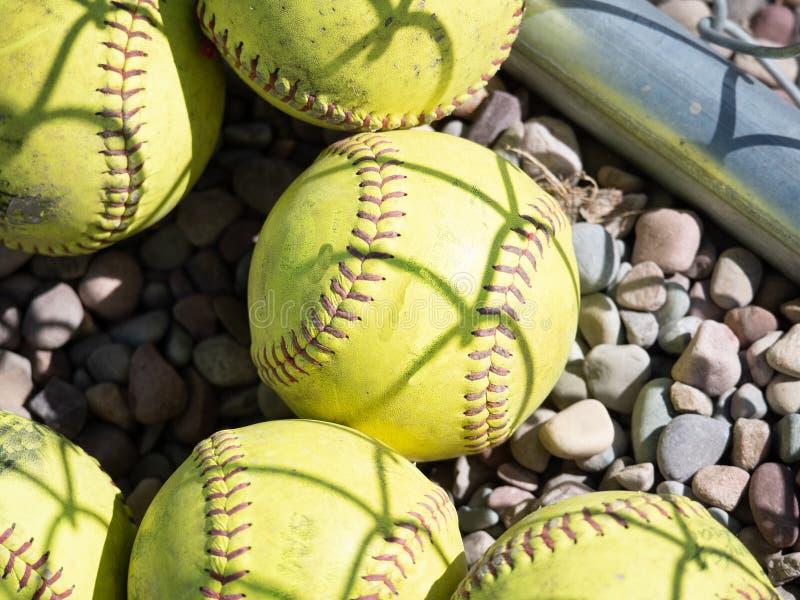 Starzy softballe Tęsk Widzieć Gametime zdjęcia stock