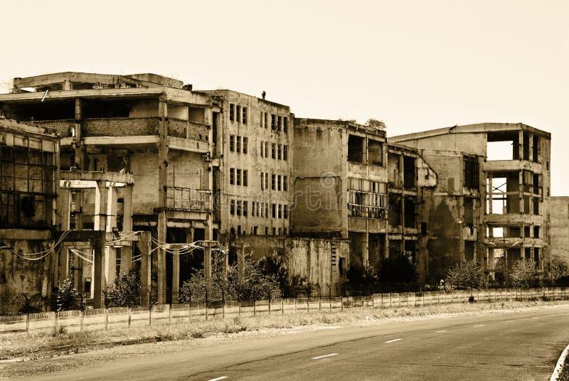 starzy zaniechani budynki obrazy stock