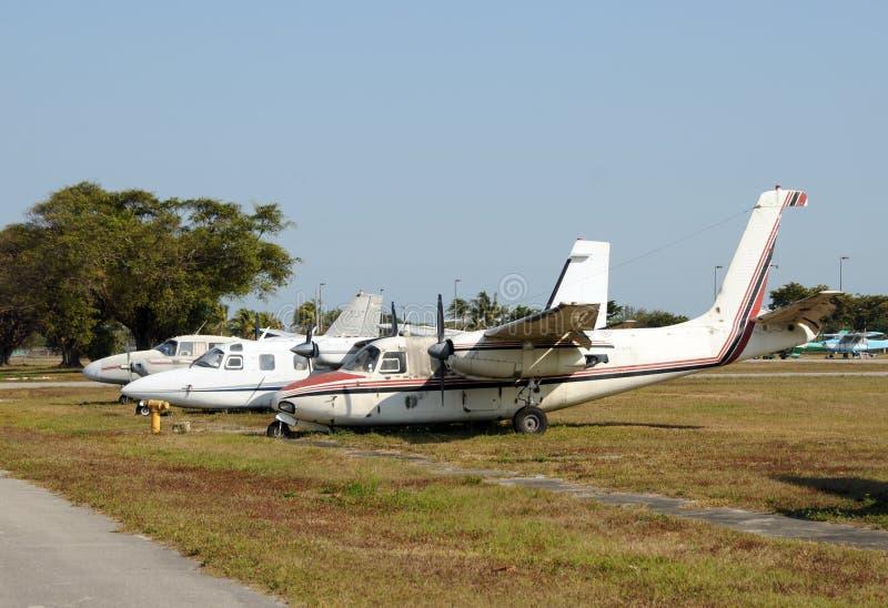 starzy zaniechani samoloty zdjęcie royalty free