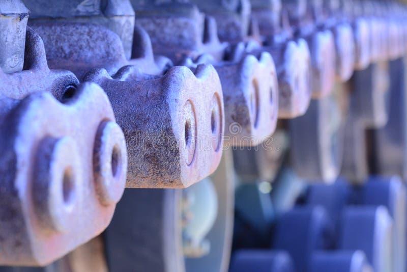 Starzy zbiorników ślada zdjęcia stock