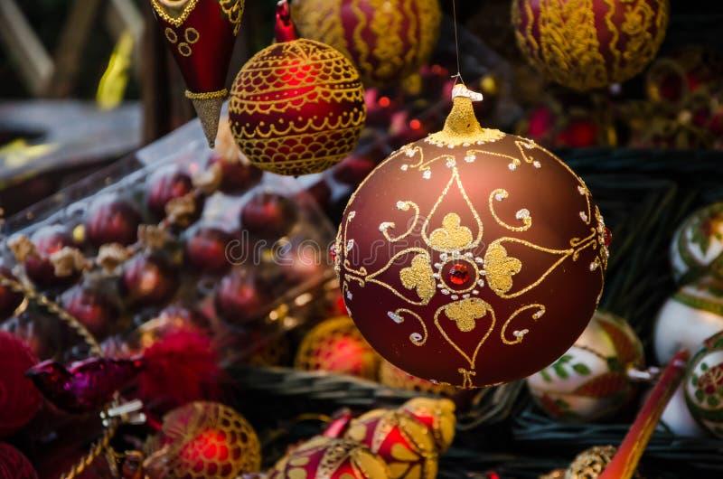 Stass av jul Julen klumpa ihop sig arkivfoto