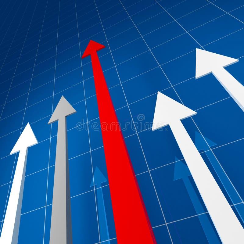 Stat financière illustration de vecteur