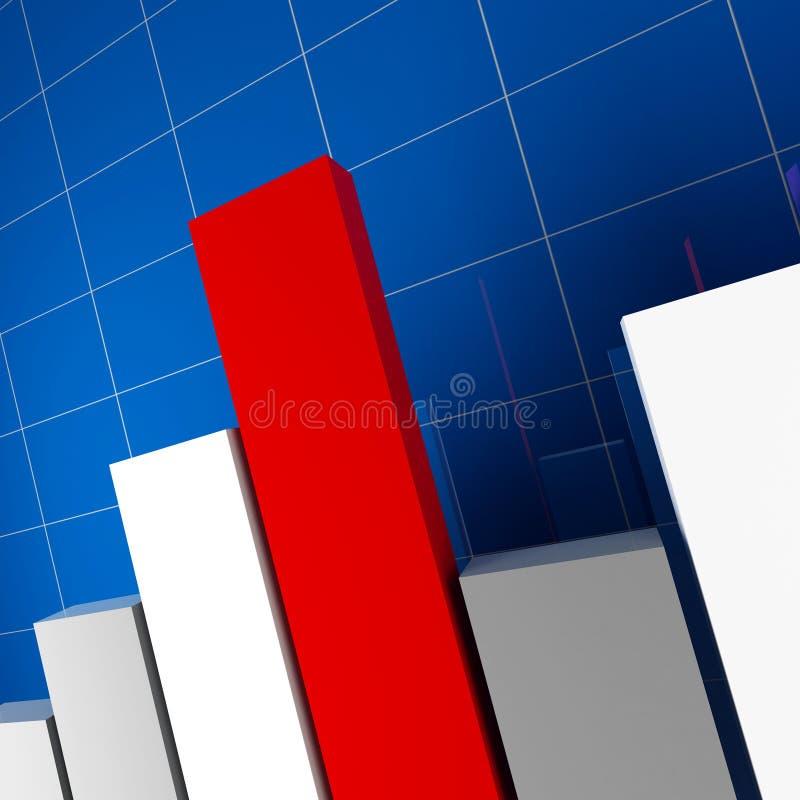 Stat financière illustration stock