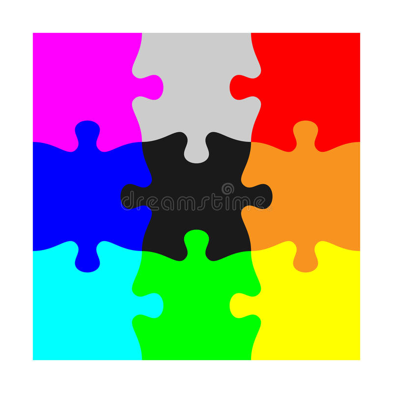 State aligned with the jigsaw piece. State aligned with the material data of the jigsaw piece vector illustration