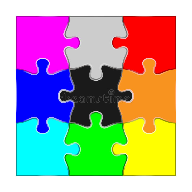 State aligned with the jigsaw piece. State aligned with the material data of the jigsaw piece stock illustration