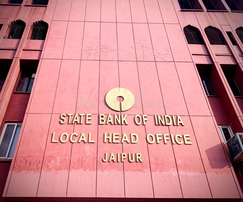 State Bank of India Local Head office Jaipu stock photos