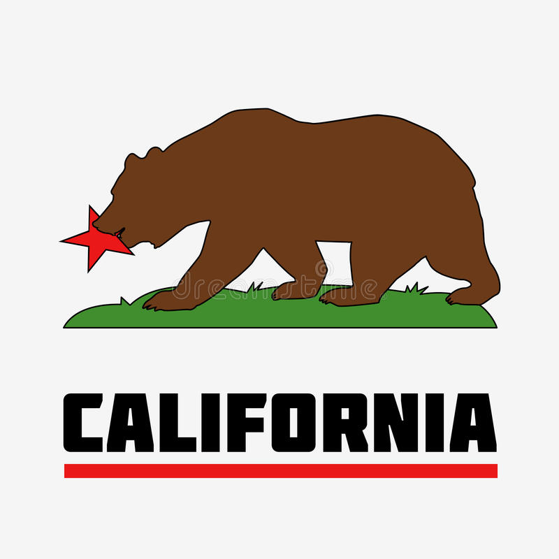 state of california flag stock illustration illustration of nation rh dreamstime com california bear logo permission